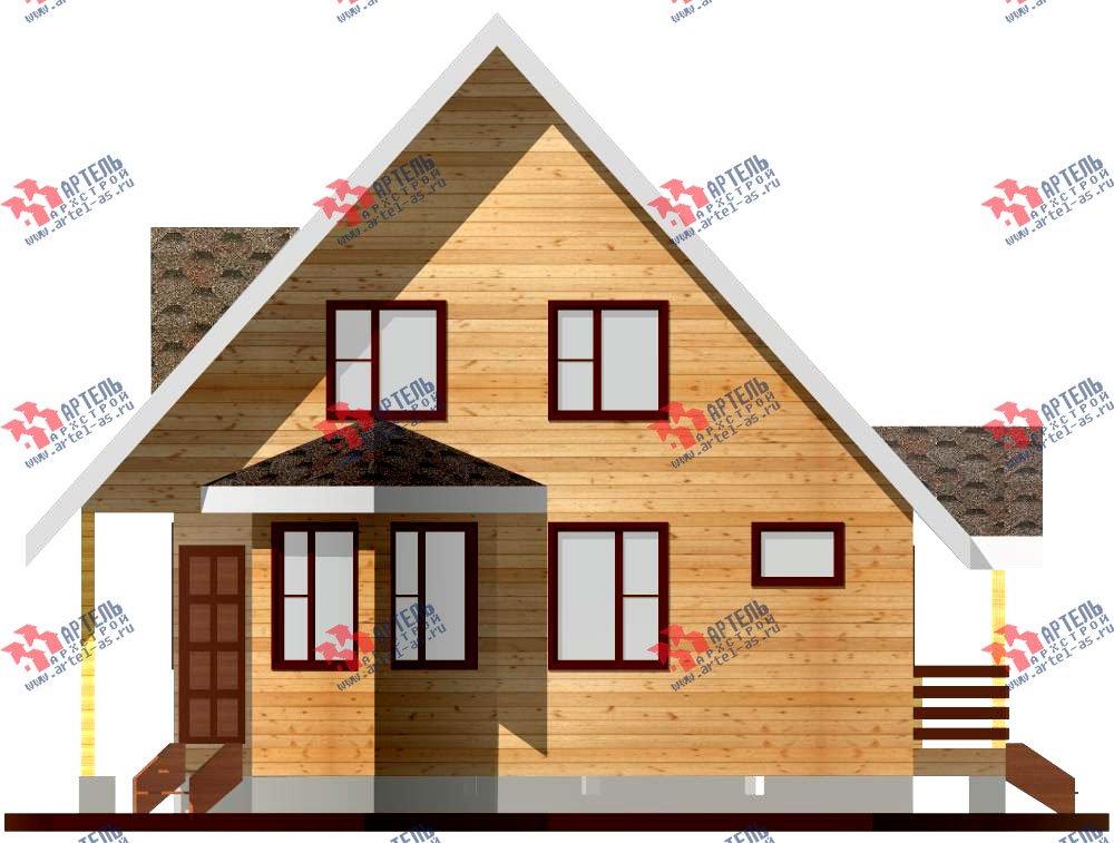 двухэтажный дом из профилированного бруса площадью до 100 кв. м. с  мансардой, эркером, проект Вариант 7 В фотография 798