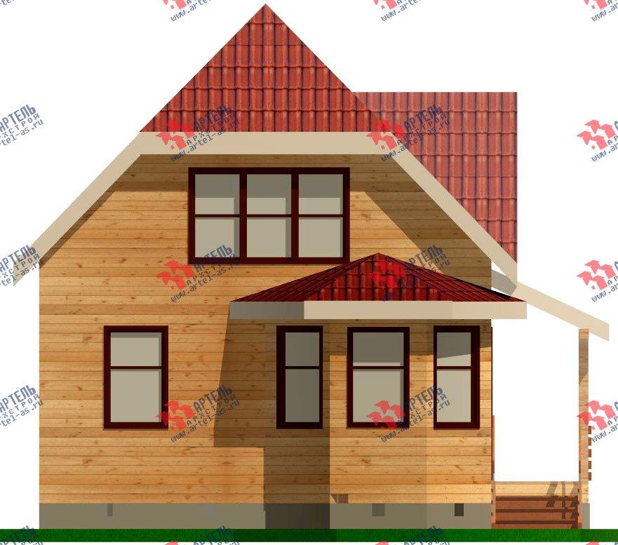 двухэтажный дом из профилированного бруса площадью до 100 кв. м. с  мансардой, эркером, проект Вариант 7 Е-1 фотография 836