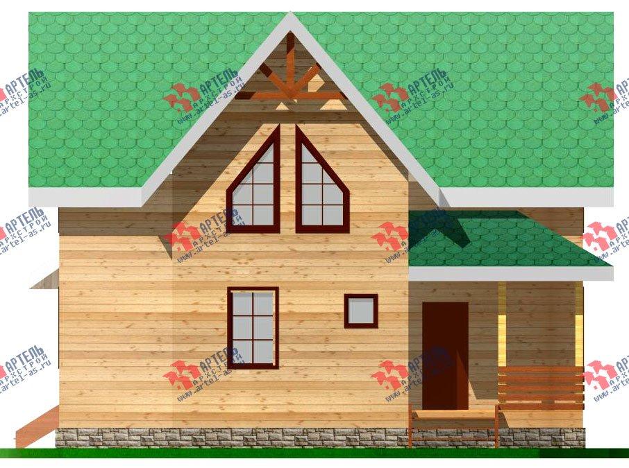 двухэтажный дом из профилированного бруса площадью от 100 до 150 кв. м. с  мансардой, проект Вариант 7.3 Б фотография 925