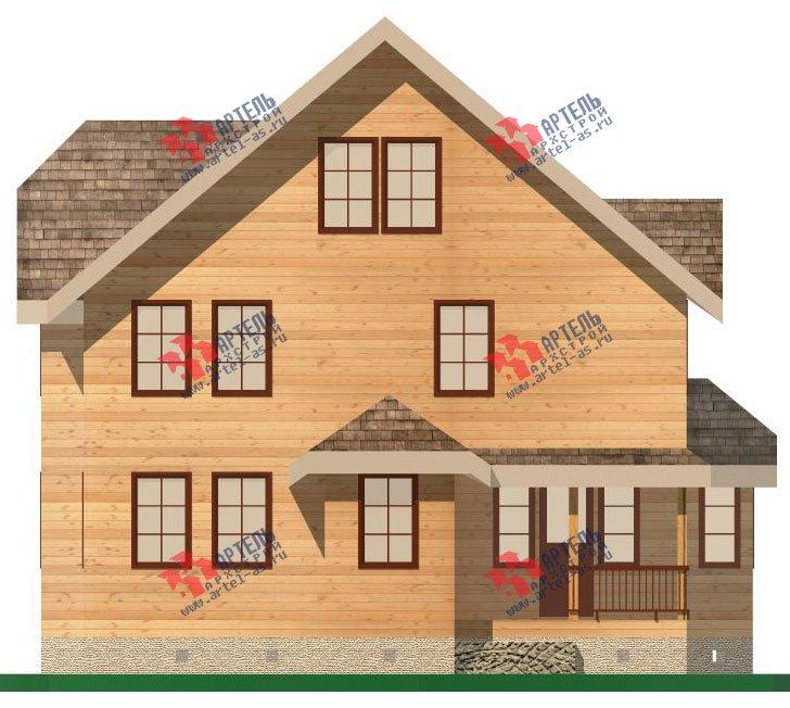двухэтажный дом из бруса площадью свыше 200 кв. м. с  террасой, эркером, проект Вариант 15.1 А фотография 1494