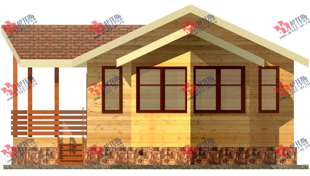 одноэтажный дом из профилированного бруса площадью до 100 кв. м., проект Вариант 2 фотография 1533