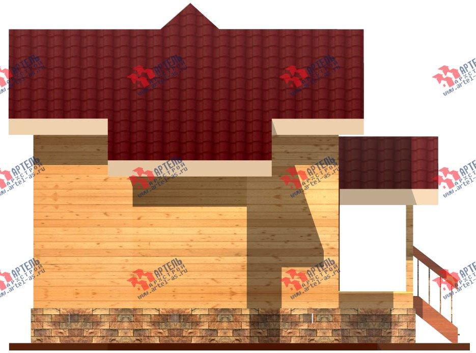 двухэтажный дом из профилированного бруса площадью до 100 кв. м., проект Вариант 3 фотография 1542