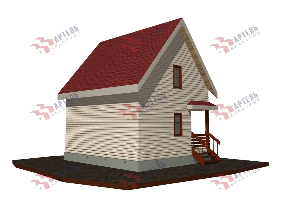 двухэтажный дом из профилированного бруса площадью до 100 кв. м. с  мансардой, проект Вариант 6 Д фотография 5784