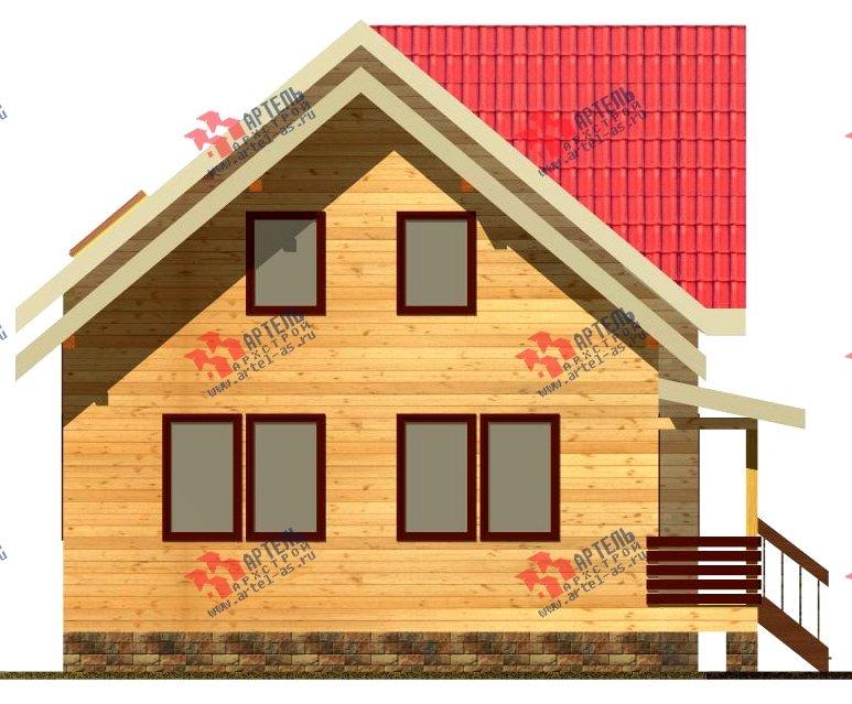 двухэтажный дом из бруса площадью от 150 до 200 кв. м. с  балконом, мансардой, проект Вариант 8.7 К фотография 2138