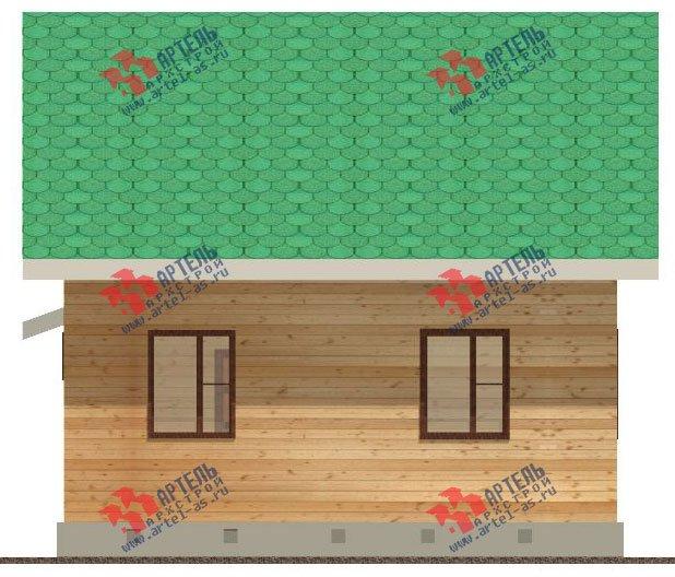 двухэтажный дом из бруса площадью от 100 до 150 кв. м. с  мансардой, проект Вариант 8 А-1 фотография 2192