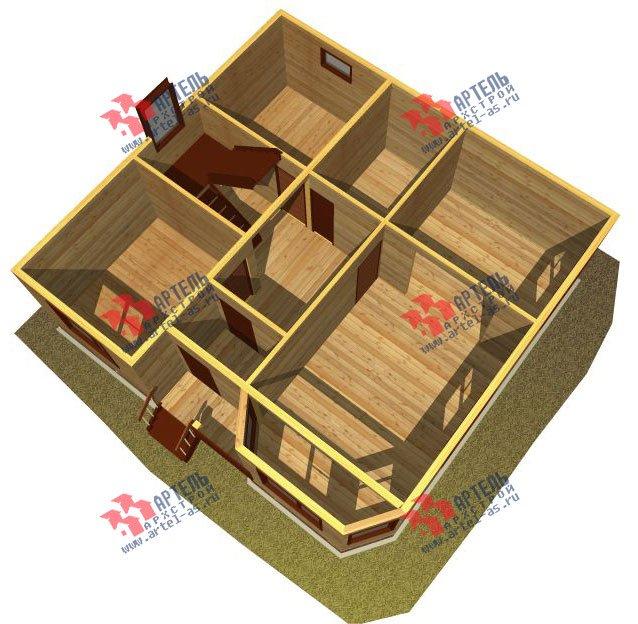 двухэтажный дом из бруса площадью от 100 до 150 кв. м. с  мансардой, эркером, проект Вариант 9 Г фотография 2199