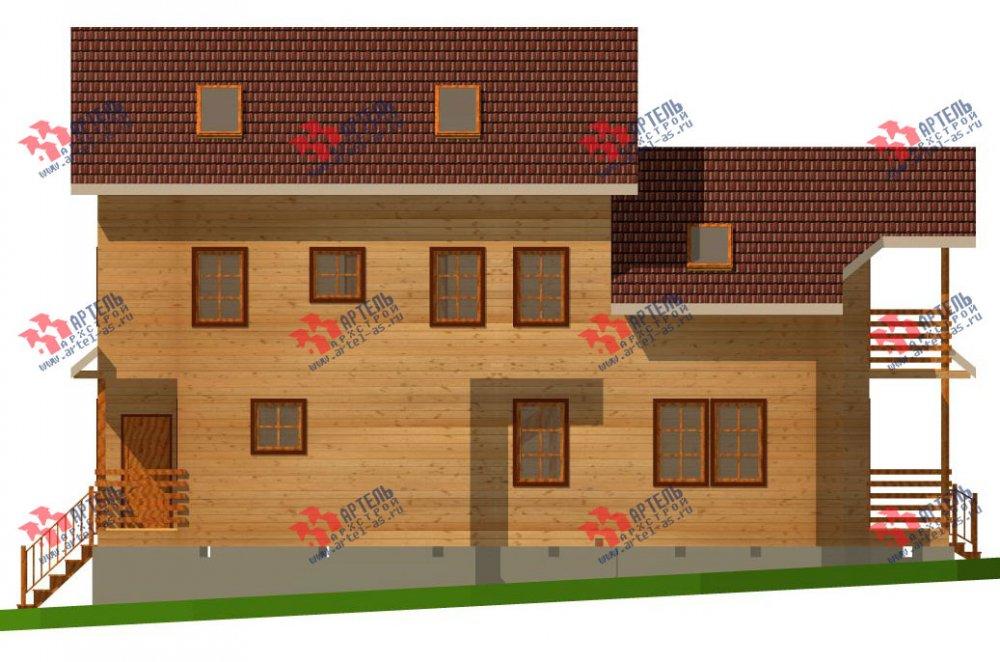 трёхэтажный дом из бруса площадью свыше 200 кв. м. с  балконом, мансардой, проект Вариант 6.3 Н фотография 2295
