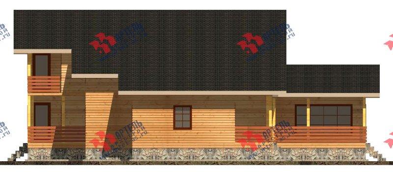 двухэтажный дом из бруса площадью свыше 200 кв. м. с  балконом, мансардой, террасой, проект Вариант 18 А фотография 2417