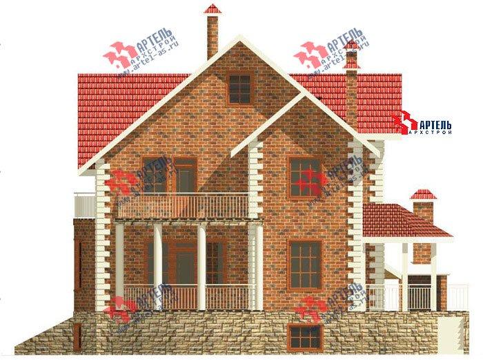 трёхэтажный дом из камня площадью свыше 200 кв. м. с  балконом, гаражом, террасой, эркером, проект Вариант 3 фотография 465