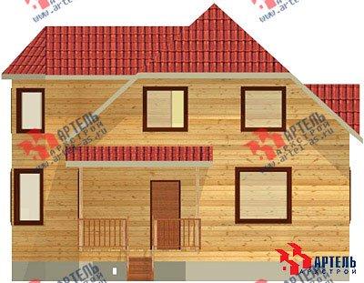 двухэтажный дом из бруса площадью от 100 до 150 кв. м. с  мансардой, эркером, проект Вариант 8 Б фотография 1175
