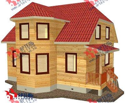 двухэтажный дом из бруса площадью от 100 до 150 кв. м. с  мансардой, эркером, проект Вариант 8 Б фотография 1174