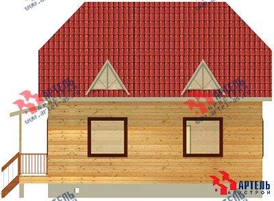 двухэтажный дом из бруса площадью от 100 до 150 кв. м. с  мансардой, эркером, проект Вариант 8 Б фотография 1177