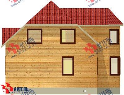 двухэтажный дом из бруса площадью от 100 до 150 кв. м. с  мансардой, эркером, проект Вариант 8 Б фотография 1178