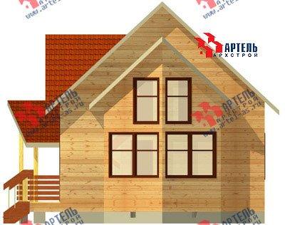 двухэтажный дом из бруса площадью от 100 до 150 кв. м. с  мансардой, эркером, проект Вариант 7 А фотография 778