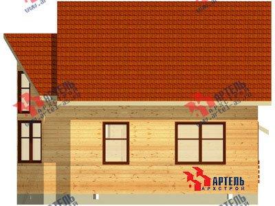 двухэтажный дом из бруса площадью от 100 до 150 кв. м. с  мансардой, эркером, проект Вариант 7 А фотография 779