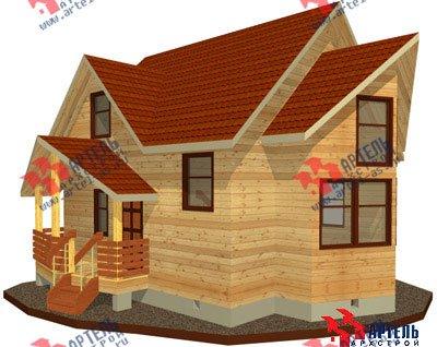 двухэтажный дом из бруса площадью от 100 до 150 кв. м. с  мансардой, эркером, проект Вариант 7 А фотография 777
