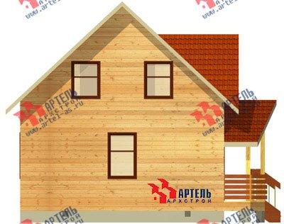 двухэтажный дом из бруса площадью от 100 до 150 кв. м. с  мансардой, эркером, проект Вариант 7 А фотография 780