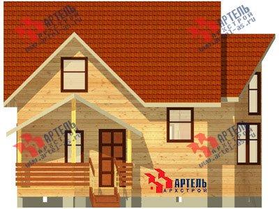 двухэтажный дом из бруса площадью от 100 до 150 кв. м. с  мансардой, эркером, проект Вариант 7 А фотография 781