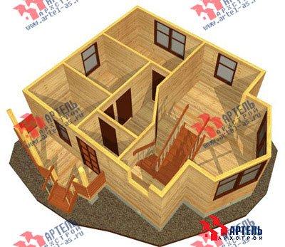 двухэтажный дом из бруса площадью от 100 до 150 кв. м. с  мансардой, эркером, проект Вариант 7 А фотография 783