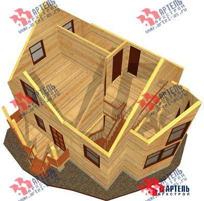 двухэтажный дом из бруса площадью от 100 до 150 кв. м. с  мансардой, эркером, проект Вариант 7 А фотография 784