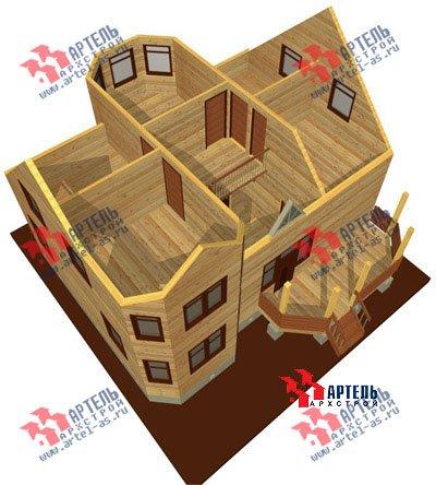 двухэтажный дом из бруса площадью от 100 до 150 кв. м. с  мансардой, террасой, эркером, проект Вариант 8.4 А фотография 961