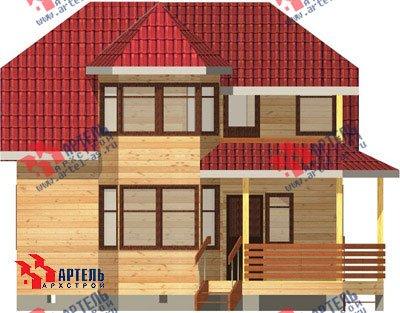 двухэтажный дом из профилированного бруса площадью от 100 до 150 кв. м. с  балконом, мансардой, эркером, проект Вариант 8 Л фотография 1073