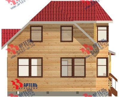 двухэтажный дом из профилированного бруса площадью от 100 до 150 кв. м. с  балконом, мансардой, эркером, проект Вариант 8 Л фотография 1076