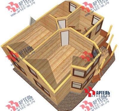 двухэтажный дом из профилированного бруса площадью от 100 до 150 кв. м. с  балконом, мансардой, эркером, проект Вариант 8 Л фотография 1078