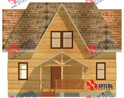 двухэтажный дом из бруса площадью от 150 до 200 кв. м. с  мансардой, террасой, проект Вариант 9.6 Б фотография 1239