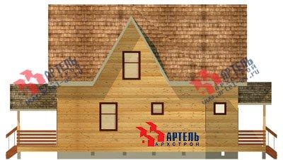 двухэтажный дом из бруса площадью от 150 до 200 кв. м. с  мансардой, террасой, проект Вариант 9.6 Б фотография 1240