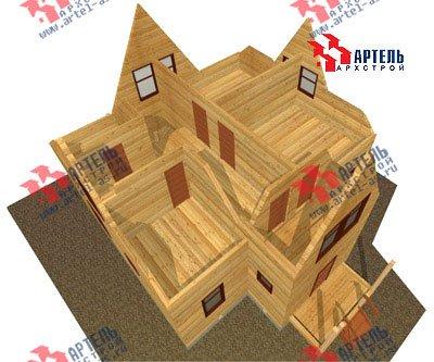 двухэтажный дом из бруса площадью от 150 до 200 кв. м. с  мансардой, террасой, проект Вариант 9.6 Б фотография 1244
