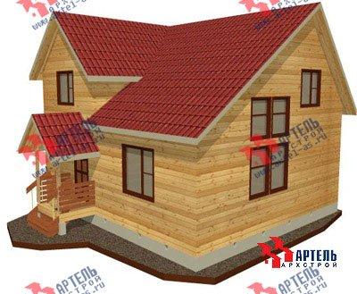 двухэтажный дом из бруса площадью от 100 до 150 кв. м. с  мансардой, проект Вариант 8 Л-1 фотография 1082