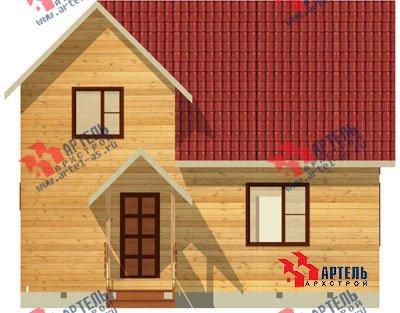 двухэтажный дом из бруса площадью от 100 до 150 кв. м. с  мансардой, проект Вариант 8 Л-1 фотография 1086