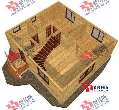 двухэтажный дом из бруса площадью от 100 до 150 кв. м. с  мансардой, проект Вариант 8 Л-1 фотография 1087