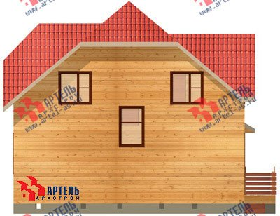 двухэтажный дом из бруса площадью от 100 до 150 кв. м. с  мансардой, проект Вариант 8 Н фотография 1099