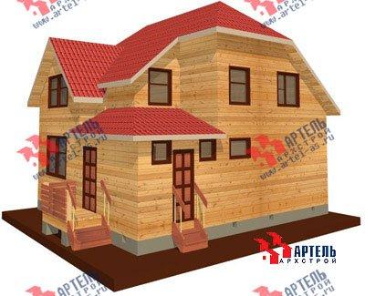 двухэтажный дом из бруса площадью от 100 до 150 кв. м. с  мансардой, проект Вариант 8 Н фотография 1098
