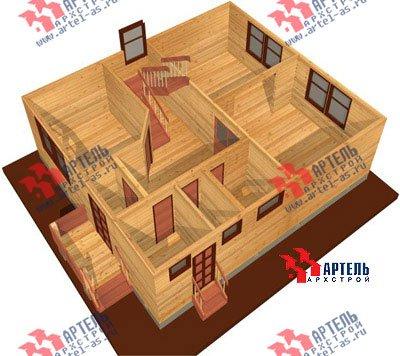 двухэтажный дом из бруса площадью от 100 до 150 кв. м. с  мансардой, проект Вариант 8 Н фотография 1103