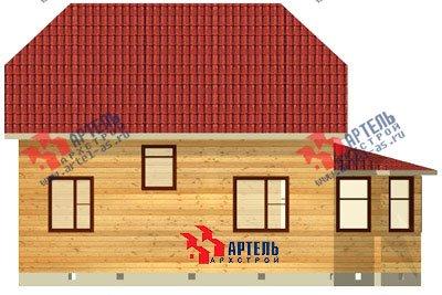 двухэтажный дом из бруса площадью от 100 до 150 кв. м. с  мансардой, эркером, проект Вариант 8 Д фотография 1003