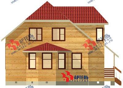 двухэтажный дом из бруса площадью от 100 до 150 кв. м. с  мансардой, эркером, проект Вариант 8 Д фотография 1004