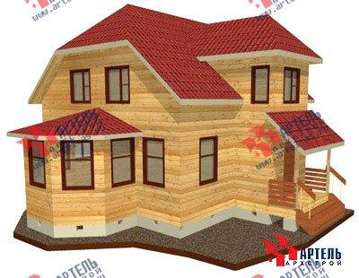 двухэтажный дом из бруса площадью от 100 до 150 кв. м. с  мансардой, эркером, проект Вариант 8 Д фотография 1002