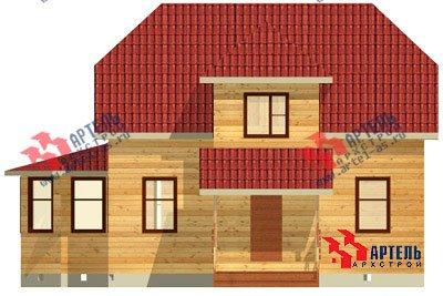 двухэтажный дом из бруса площадью от 100 до 150 кв. м. с  мансардой, эркером, проект Вариант 8 Д фотография 1005