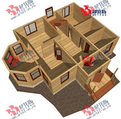 двухэтажный дом из бруса площадью от 100 до 150 кв. м. с  мансардой, эркером, проект Вариант 8 Д фотография 1008
