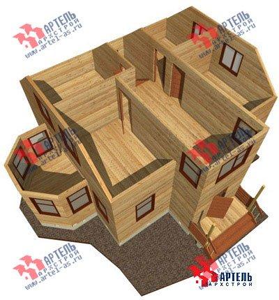 двухэтажный дом из бруса площадью от 100 до 150 кв. м. с  мансардой, эркером, проект Вариант 8 Д фотография 1009