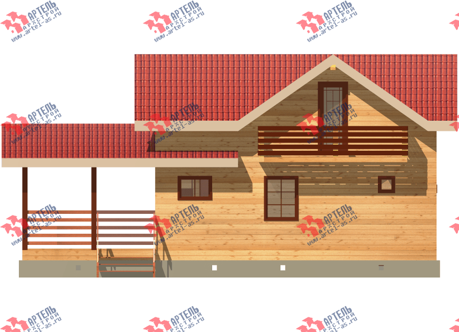 двухэтажный дом из профилированного бруса площадью до 100 кв. м., проект Вариант 7 фотография 3350