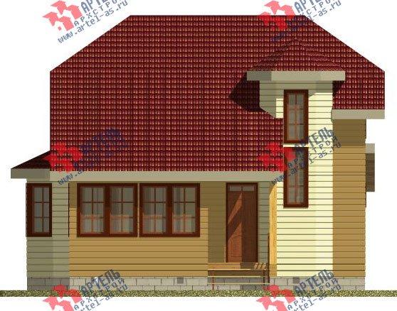 двухэтажный дом из профилированного бруса камерной сушки площадью от 100 до 150 кв. м. с  мансардой, эркером, проект Вариант 2 фотография 2532