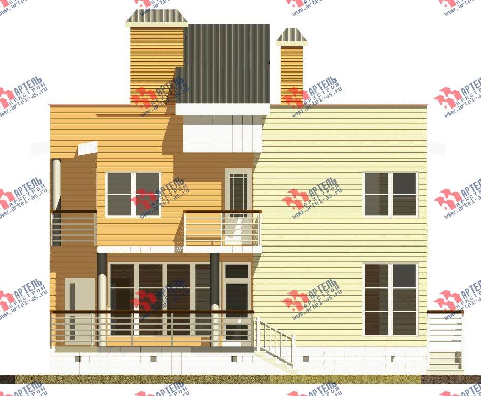 двухэтажный каркасный дом площадью свыше 200 кв. м. с  балконом, террасой, проект Вариант 3 фотография 2544