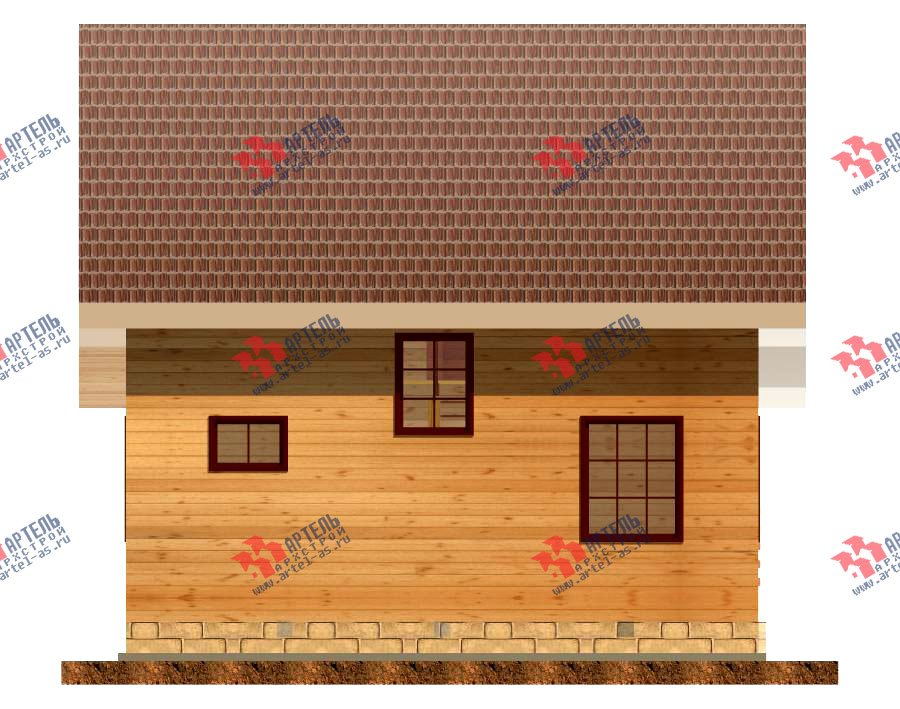 двухэтажный дом из профилированного бруса площадью от 100 до 150 кв. м. с  террасой, проект Вариант 7.2 А фотография 2660