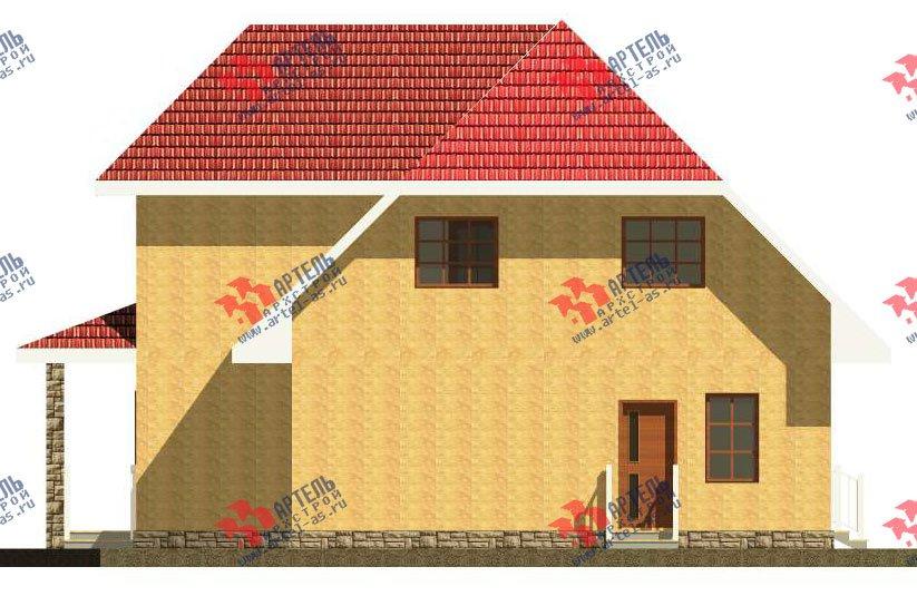 двухэтажный дом из камня площадью свыше 200 кв. м. с  верандой, проект Вариант 22 фотография 2693