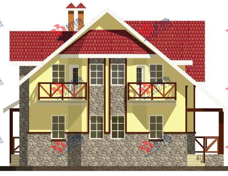 двухэтажный дом из камня площадью свыше 200 кв. м. с  балконом, эркером, проект Вариант 23 фотография 2714