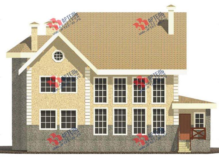трёхэтажный дом из камня площадью свыше 200 кв. м. с  балконом, мансардой, эркером, проект Вариант 24 фотография 2743